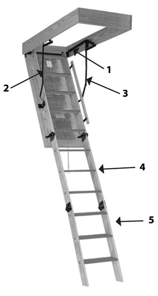 Werner 55-2 Replacement Attic Ladder Hinge Arms Fits: 2010 ... |Door Attic Ladder Parts